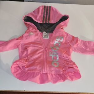 2 for $25 💘 Adidas zip up, size 12M